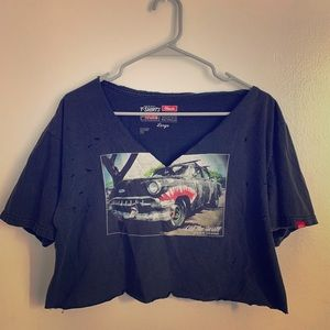 Vintage Vans Distressed Crop Top